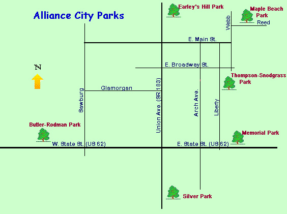 Alliance City Parks Map