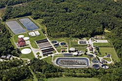 Wastewater Treatment Plant aerial photo